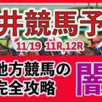【 地方競馬予想 】大井競馬予想 11月19日11R,12R最後に買い目も発表しています  #大井競馬,#大井競馬予想,#地方競馬予想,#地方競馬,#競馬,#競馬予想,#JRA,#ギャンブル,#予想,