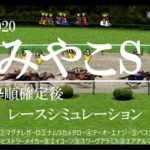 2020 みやこステークス 競馬予想 レースシミュレーション(枠順確定後)