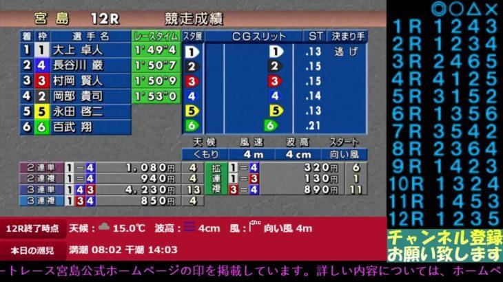 ★宮島ボート公認 レースライブ★ 2020年11月27日「道新スポーツ杯」3日目のレースライブです。