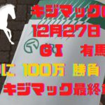 【競馬】2020年有馬記念約束の100万勝負はストマック!?キジマックの週末最終章【中山競馬場】