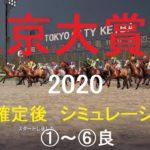 【競馬予想2020】第66回東京大賞典(GⅠ)。大井競馬場ダート2000M。シミュレーション枠順確定後6パターン(①~⑥良)【WP9】20201227