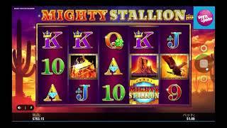 【オンラインカジノ】新台実践!複数ワイルド&最大1000倍リスピンで勝利を目指せ!【Mighty Stallion: Hold and Win】