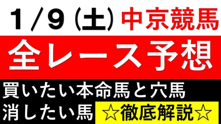 【2021競馬予想】1月9日土曜中京競馬場全レース予想【シンザン記念】