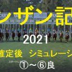 【競馬予想2021】第55回シンザン記念(GⅢ)。中京芝1600m。シミュレーション枠順確定後6パターン(①~⑥良)【WP9】20210108