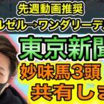 東京新聞杯【競馬予想】人気馬からおすすめは1頭!妙味ありの3頭共有します。【根岸Sレッドルゼル→ワンダーリーデル的中】初心者にもわかりやすく説明します