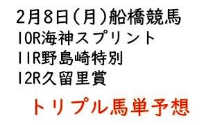 【船橋競馬トリプル馬単予想】海神スプリント・野島崎特別・久留里賞【2021年2月8日】