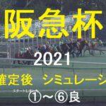 【競馬予想2021】第65回阪急杯(GⅢ)。シミュレーション枠順確定後6パターン(①~⑥良)【WP9】20210226
