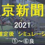 【競馬予想2021】第71回東京新聞杯(GⅢ)。シミュレーション枠順確定後6パターン(①~⑥良)【WP9】20210205