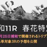 浦和競馬┃マルチフレンド特別・春花特別・高麗川特別┃トリプル馬単対象3レースの予想