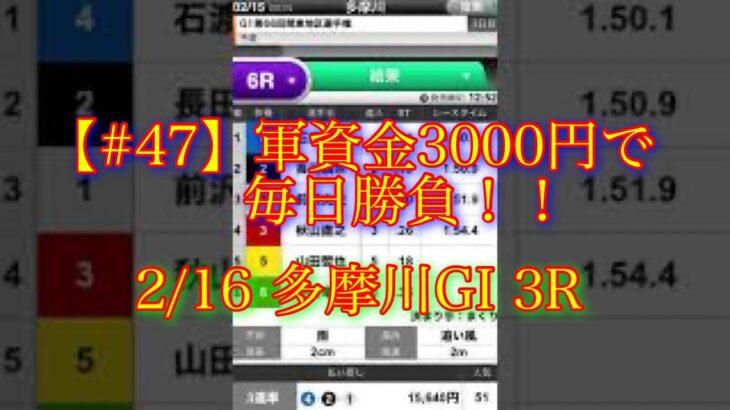 【#47】軍資金3000円で毎日ボートレース勝負!! ※全画面でご覧下さい 【ボートレース予想】【競艇予想】