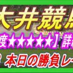 大井競馬🔥勝負レース🔥詳細予想【印で1.2.3着独占多々あり!!】