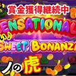 #194【オンラインカジノ|スロット】あまーい誘惑スロット:スイートボナンザは見方してくれるか?|ボーナス出金への道⑤