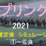 【競馬予想2021】第70回スプリングS(GⅡ)。シミュレーション枠順確定後6パターン(①~⑥良)【WP9】20210319