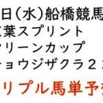 【船橋競馬トリプル馬単予想】京葉スプリント・マリーンカップ・チョウジザクラ2200【南関競馬2021年4月7日】
