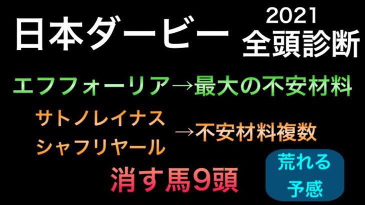 【競馬予想】 日本ダービー 2021 全頭診断 事前予想 東京優駿