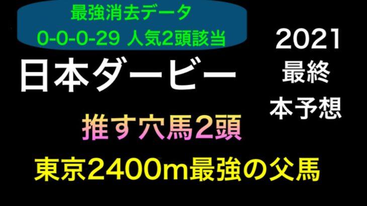 【競馬予想】 日本ダービー 2021 最終本予想 東京優駿