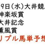 【大井競馬トリプル馬単予想】神楽坂賞・大井記念・薫風賞【南関競馬2021年5月19日】