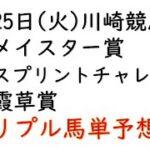 【川崎競馬トリプル馬単予想】メイスター賞・スパーキングスプリントチャレンジ・霞草賞【南関競馬2021年5月25日】