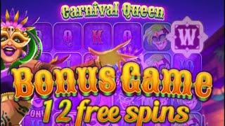【オンラインカジノ】初打ち!Carnival Queenを打ってみる