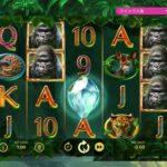 オンラインカジノスロット!ゴリラキングダム(gorilla kingdom)ただの50回転ボーナス2回引き【オンカジ】