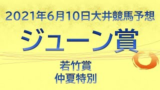 【大井競馬予想】ジューン賞他10R・12R【2021年6月10日】
