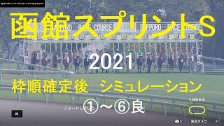 【競馬予想2021】函館スプリントS(GⅢ)札幌1200mシミュレーション枠順確定後6パターン(①~⑥良)【WP9】20210611