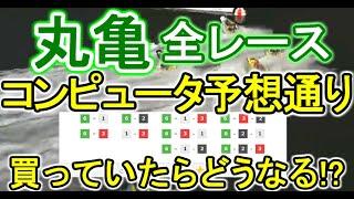 【競艇・ボートレース】もしも丸亀全レースコンピュータ予想通りに3連単買っていたらどうなる!?