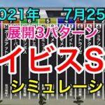 【競馬】アイビスサマーダッシュ2021 シミュレーション《展開3パターン》
