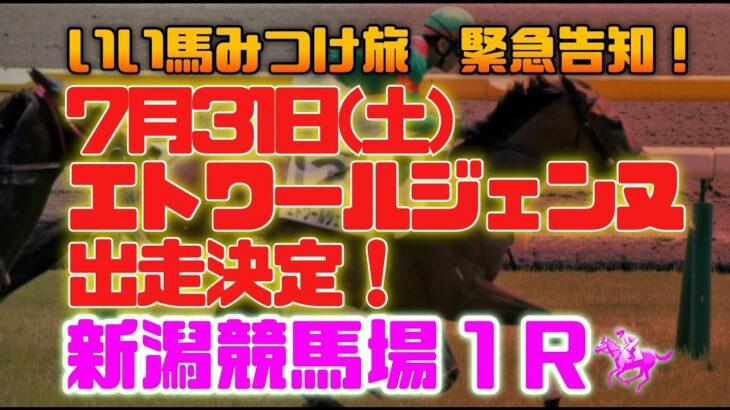 【競馬・緊急告知】エトワールジェンヌ出走決定!いい馬みつけ旅!(EMG)