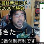 よっさん競馬 新潟12R 3連単4万3000円勝負  最終レースで実況に怒💢