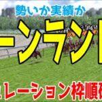 キーンランドカップ2021 枠順確定後シミュレーション 【競馬予想】