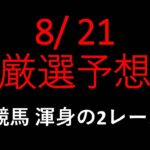 【競馬予想】2021 8/21厳選予想【平場予想】