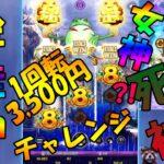 #79【オンラインカジノ スロット】1回転3,500円ベットチャレンジ!金蛙神は女神?ちに神?!