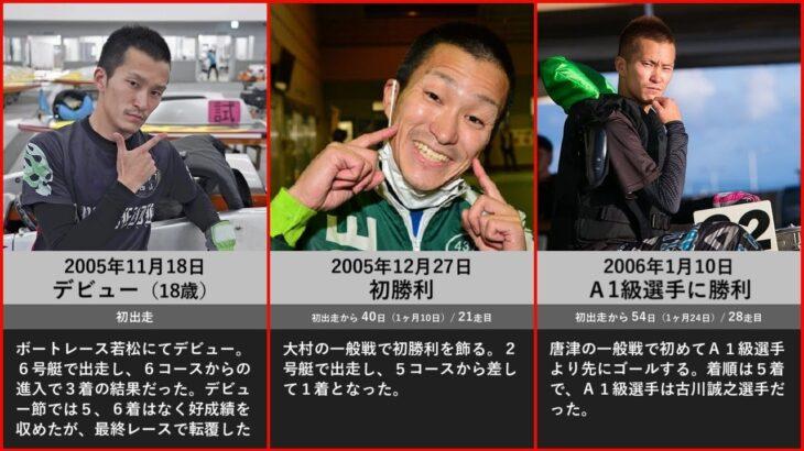 【西山貴浩】デビューから現在までの戦歴と記録【ボートレース・競艇】