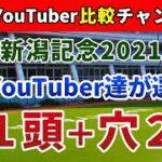 新潟記念2021 競馬YouTuber達が選んだ【軸1頭+穴2頭】