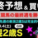 【札幌2歳ステークス2021】最終予想&買い目について(競馬予想)