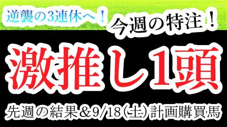 【競馬 検証 予想】逆襲の激推し!9/18(土)絞りに絞った渾身の激推し馬公開!