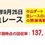 【競馬予想】9/25 平場予想 勝負レース