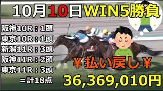 【競馬】¥WIN5¥払い戻し金¥36,369,010円!←18点で勝負!【Horse racing】